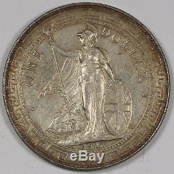 Great Britain UK 1911 B TRADE DOLLAR in China $1 Silver Coin AU+ Choice AU