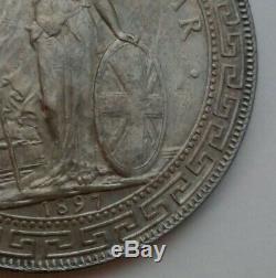 Great Britain UK Hong Kong 1 Trade Dollar 1897B. KM#T5.900 Silver Crown coin