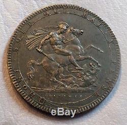 Great Britain Uk Coin Crown 1819 LIX Nice Black Patina Au+