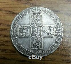 Great Britain silver George II LIMA 1746 1/2 Crown KM 584.3