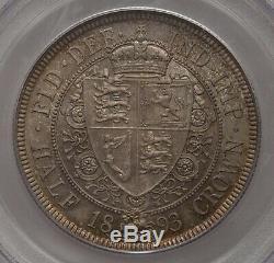 Half Crown 1893 Pcgs Ms 65 1/2 Cr Great Britain