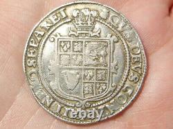 James I Half Crown mm Thistle Hammered Silver S2667 14.9g #LB64