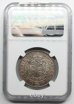 NGC AU58 UK GREAT Britain 1900 VICTORIA HALF 1/2 CROWN SILVER COIN