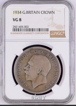 Ngc 1934 Great Britain George V Crown-rarest Date Of Last 200 Years-good Price