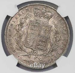Ngc-au58 1845 Great Britain Crown Toned Aunc
