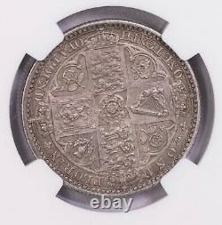 Ngc-ms65 1849 Great Britain Godless Florin Silver Nice Toning