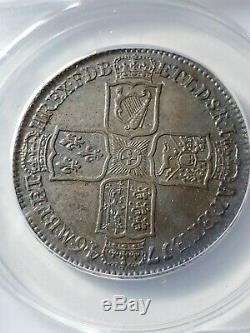 Nicely Toned 1746 Great Britain Lima 1/2 Crown Graded by ANACS AU-50 KM 584.3