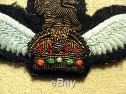 Original Wwii British Glider Pilots Dress Wings Bullion Kings Crown & Lion