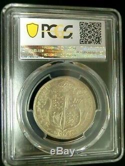 PCGS MS64 Gold Shield-Great Britain 1922 George V Silver 1/2 Crown ChoiceBU RARE