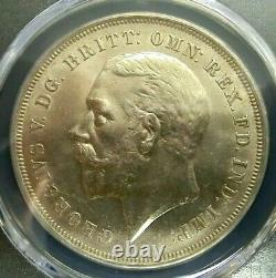 PCGS MS64 Gold Shield-Great Britain 1935 George V Silver One Crown Choice BU
