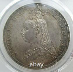 PCGS MS64 Great Britain UK 1887 Queen Victoria Silver Coin 1 Crown