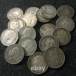 QUEEN VICTORIA 1845 and King George V and VI SILVER CROWN -JOB LOT 17