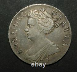 Queen Anne 1707 Crown. Post Union. Edinburgh Mint