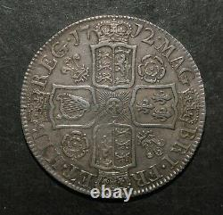 Queen Anne 1712 Half Crown. Roses And Plumes. Undecimo