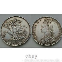 SCC Great Britain UK 1 Crown 1887. KM#765.925 Silver Dollar coin. Q. Victoria