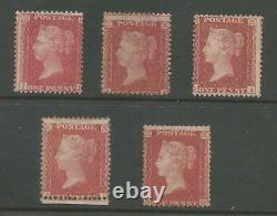 SG 29 5X 1855 QV 1d RED-BROWN WAT LARGE CROWN P. 14 MINT OR UNUSED CAT £1200