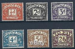 Sg D40 D45 1954 Tudor Crown Full set of Postage Dues UNMOUNTED MINT/MNH