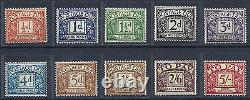 Sg D46 D55 1955-57 Edward Crown Full set of Postage Dues UNMOUNTED MINT/MNH