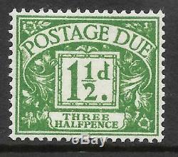 Sg D48wi 1955-57 1½d Edward Crown Postage Due watermark inverted UNMOUNTED MINT