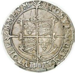 Very Rare Great Britain 1601 Half 1/2 Crown Silver Elizabeth I London PCGS XF45