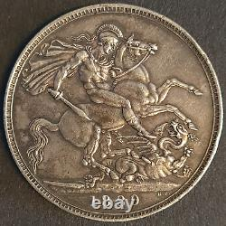 Victoria, Crown, 1889, Silver, Extremely Fine, Beautiful Coin