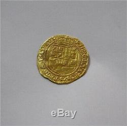 1619 Jacques Ier Grande-bretagne Gold Crown Coin 5ème Bust Martelé Vf Scarce