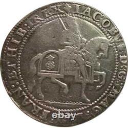 1623 Grande-bretagne James I Couronne Pièce D'argent