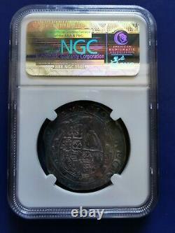1641-1643 Grande-bretagne 1/2 Demi Couronne Argent Coin King Charles I Ngc F-détails