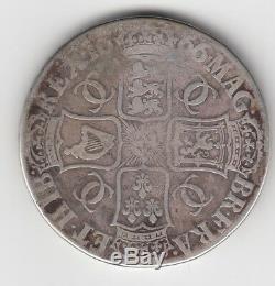 1666 Charles II Crown 5 / - Coin Grande-bretagne Grand Incendie De Londres