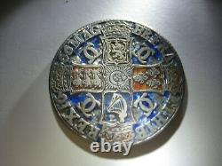 1666 Charles II Silver Crown Rare Grande-bretagne Pièce, Année Du Grand Feu