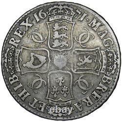 1671 Couronne Charles II Pièce D'argent Britannique