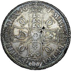 1671 Couronne Charles II Pièce D'argent Britannique Nice