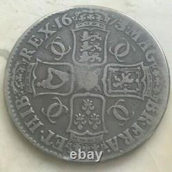 1673 Grande-bretagne 1 Une Couronne Charles II Staple Scratch Hha