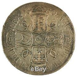 1680 Charles II Couronne Quatrième Buste T. Secundo Grande-bretagne Pièce D'argent
