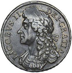 1686 Couronne (non Radié H Hib) James II British Silver Coin V Nice