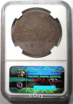 1686 Grande-bretagne Angleterre Jacques II Couronne Coin Certifié Ngc Vf25 Rare
