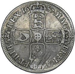 1687 Couronne James II Pièce D'argent Britannique