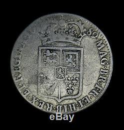 1689 Grande-bretagne Moitié 1/2 Couronne Km # 472.1 William & Mary Angleterre 1er Bouclier