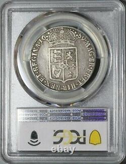 1689 Pcgs Vf 25 William Mary 1/2 Crown Great Britain Silver Coin (21010402c)