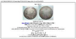 1695 Grande-bretagne Royaume-uni Britannique Roi Guillaume III Antique Silver Crown Coin I82272