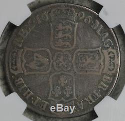 1696 Grande-bretagne Demi-couronne Argent Monnaie Ngc Vg8