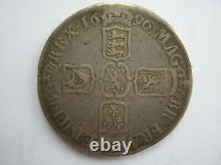 1696 William III Argent Couronne F Esc 995