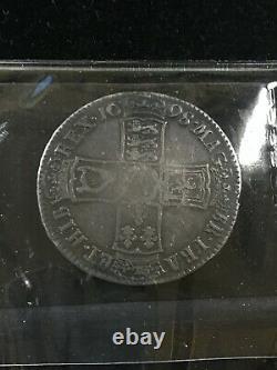 1698 Grande-bretagne, Half Crown, Coin Mart Gradedvf-20 Km# 492.2