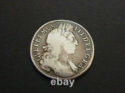 1701 William III 3e Silver Halfcrown Half Crown Coin