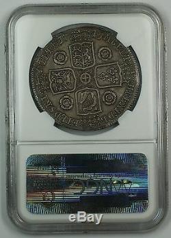 1741 Grande-bretagne Silver Crown Coin Esc-123 Roses Ngc Au-53 Akr