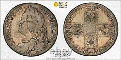 1746 Grande-bretagne 1/2 Half Crown S-3695a Lima George II Pcgs Vf25 Km# 584.2