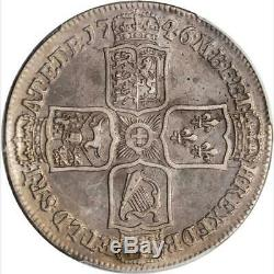 1746 Grande-bretagne Lima 1/2 Crown, Pcgs Ef Avers Damage, Km # 584,3, Moitié
