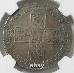1746 Lima Argent Grande-bretagne 1/2 Couronne Roi George II Pièce Ngc Très Amende 30