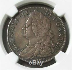 1746 Lima Argent Grande-bretagne 1/2 Crown King George II Coin Ngc Très Fine 30