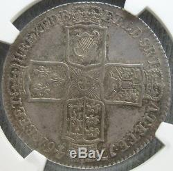 1746 Lima Grande-bretagne 1/2 Crown Ngc Au-53